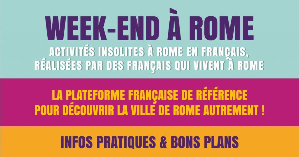 week-end à rome activités insolites à Rome en français
