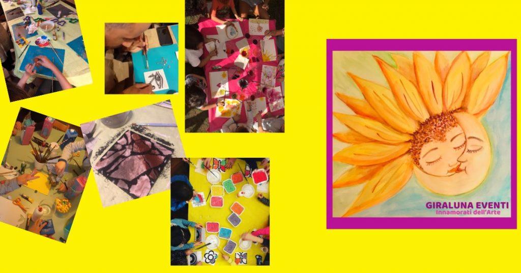 Giraluna Eventi propose des ateliers artistiques et créatifs pour les enfants, lors de fêtes d'anniversaire, d'événements liés aux saisons et lors de festivals.